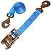 "2"" Blue Custom Ratchet Strap with HD Flat Snap Hooks"