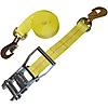 "2"" Custom Yellow Ratchet Strap with Swivel Snap Hooks"