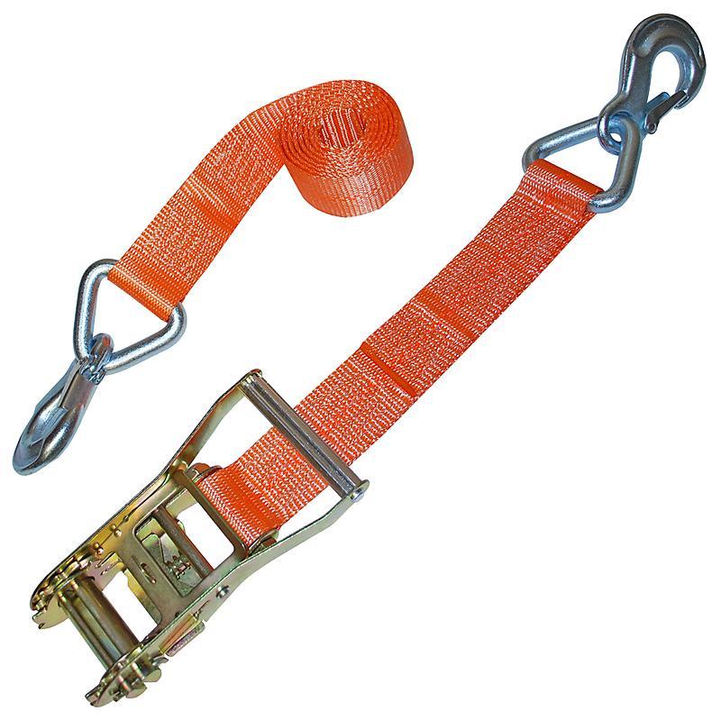 Orange 2 inch Ratchet Strap with Slip Hook Assembly | RatchetStrapsUSA