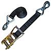 Black 2 inch Ratchet Strap with Slip Hook Assembly | RatchetStrapsUSA