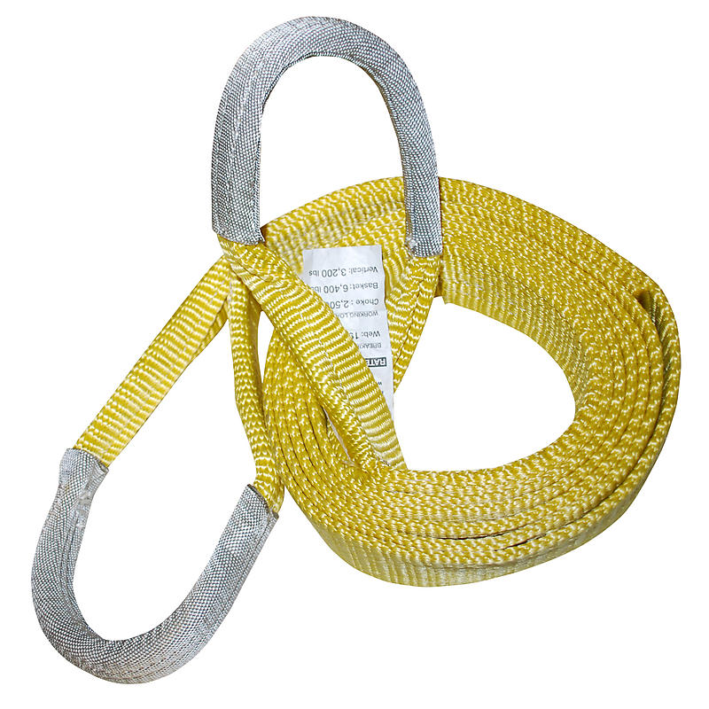 "2"" x 20' 1-ply Recovery Strap with 8"" Cordura Eyes 