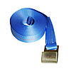 "2"" x 30' Winch Strap with Flat Hook - BLUE"