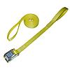 1 inch Yellow Cam Buckle Strap with Loops | RatchetStrapsUSA
