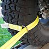 "2"" Lasso Strap with O-Ring around a UTV Wheel"