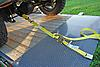 2 inch Axle Strap with Flat D Rings securing ATV