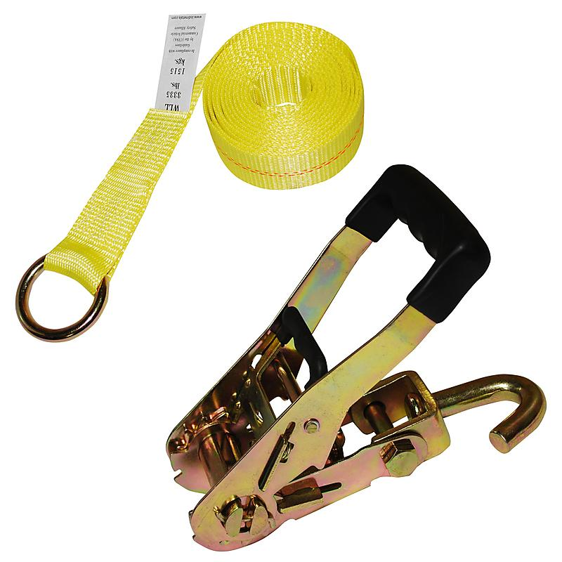 "2"" Yellow Lasso Strap with Ratchet"
