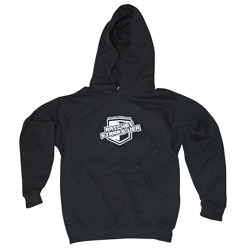 Ratchet Straps USA Logo Black Hoodies - Youth | RatchetStrapsUSA