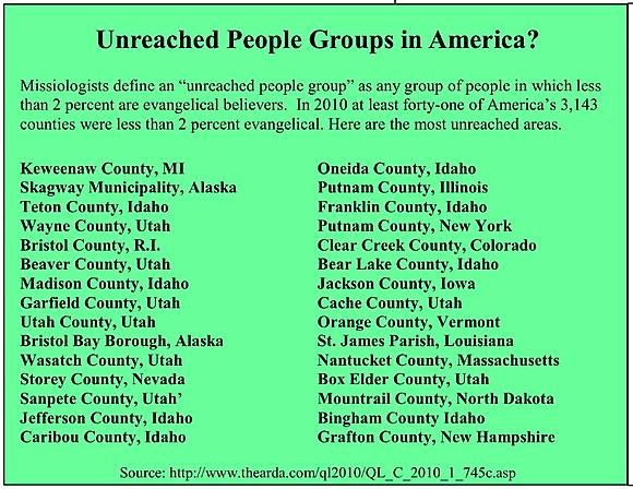 Unreached Counties