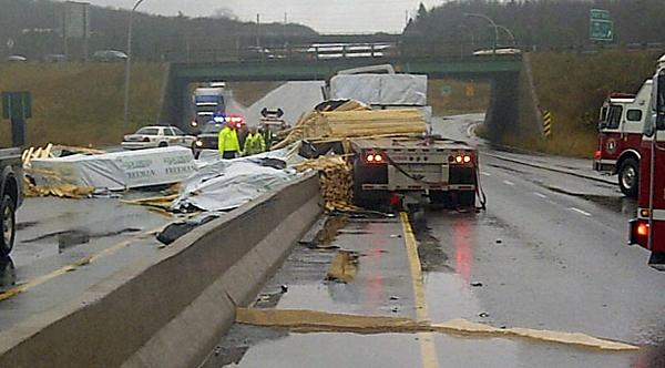 Highway Debris from unsecured load