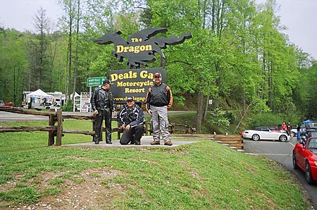 Friends and I at Deals Gap 8220The Dragon8221