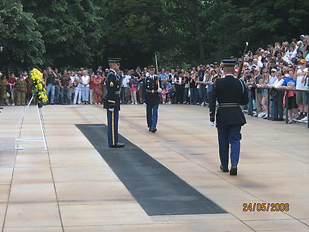 Rolling Thunder 2008 Wash DC Changing of the guard at the Unknown Soilder