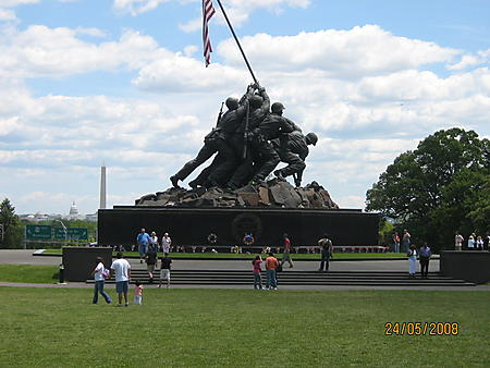 Rolling Thunder 2008 in Wash DCThe visit to Iwo Jima Memorial