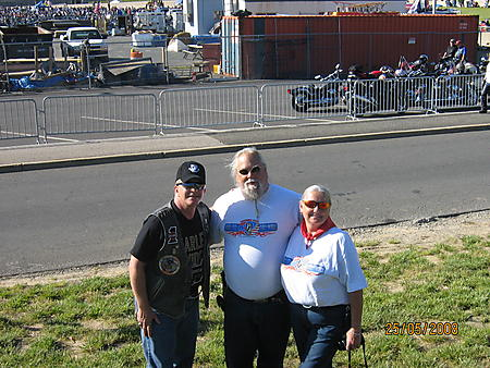 Rolling Thunder 2008Molly and Mark Infield owners and editors of Full Throttle Magazine