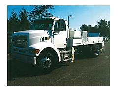 SOLD 8211 2008 ALLIANCE JFS 12H CONCRETE PUMP ON 2007 STERLING TRUCK