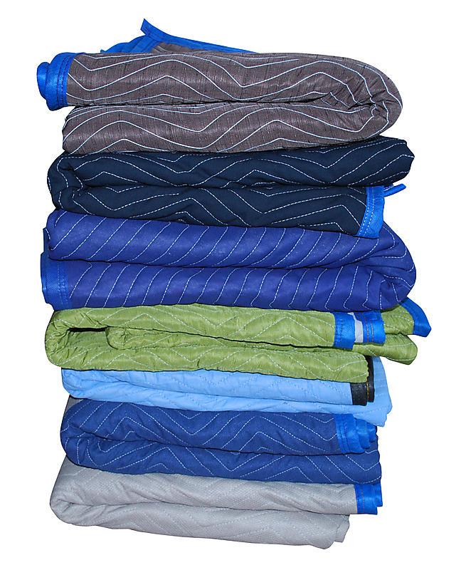 MultiColor Pro Dozen Moving Blankets | 75 lbs