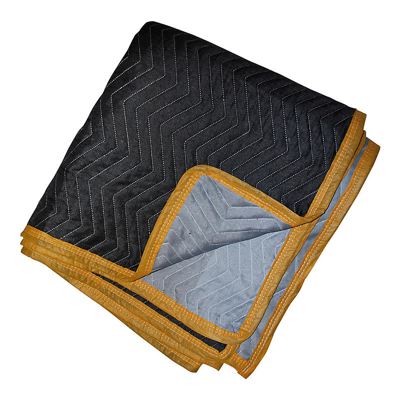 Premium Moving Blankets Black/Gray 4-Pack | 80 lbs