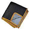 Premium Moving Blankets Black/Gray Dozen | 80 lbs