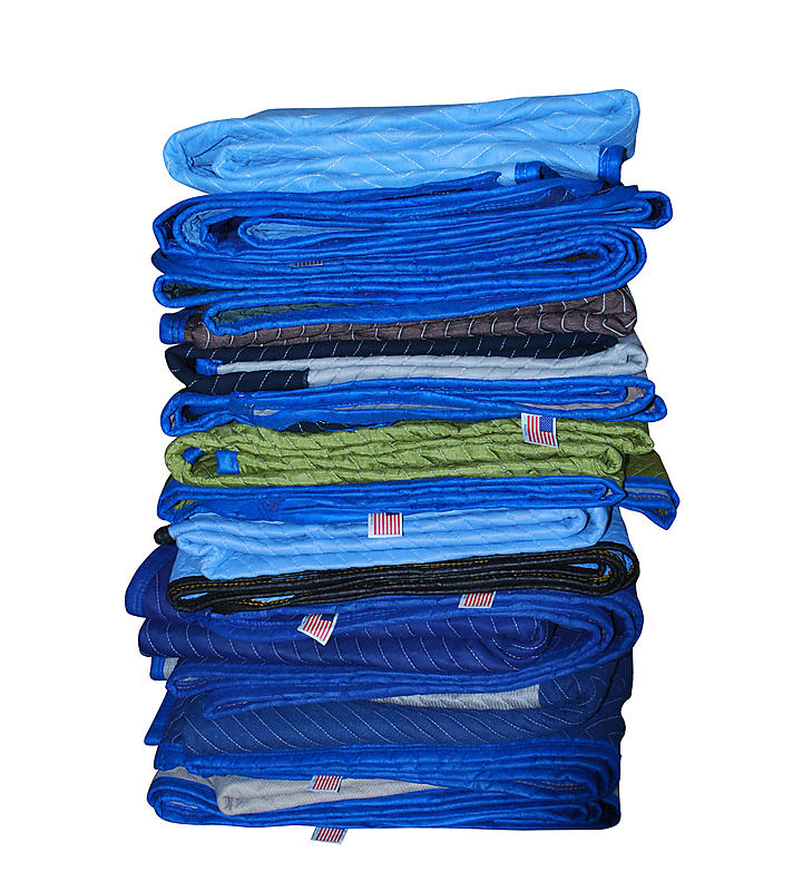 USA Multi Color Dozen Moving Blankets