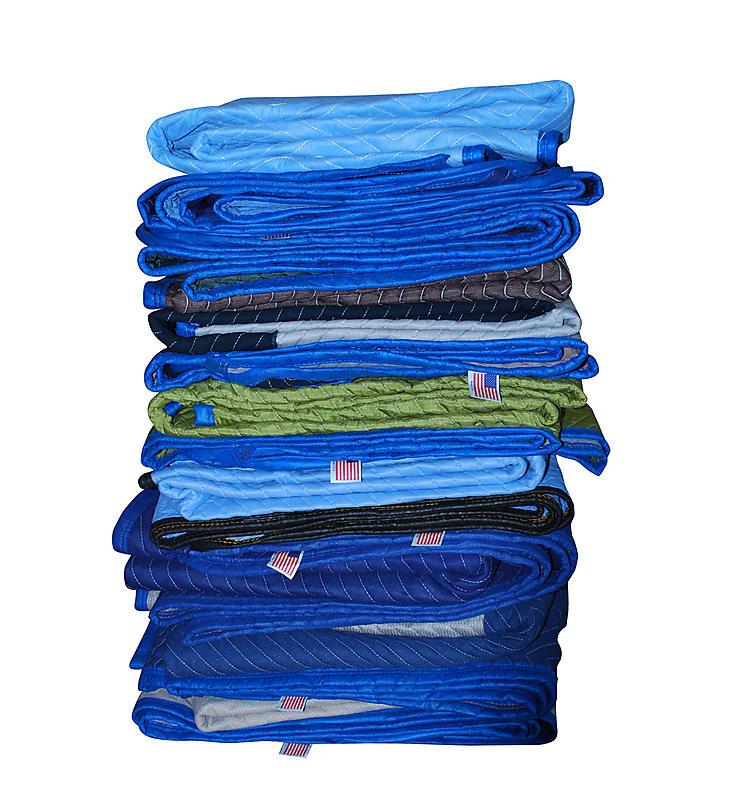 USA Multi Color Dozen Moving Blankets