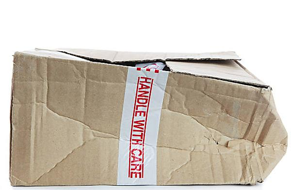 Boxes that have become damaged during a move
