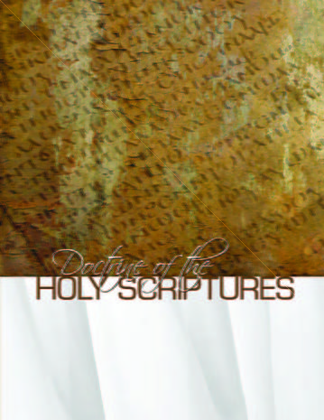 Doctrine of the Holy Scriptures
