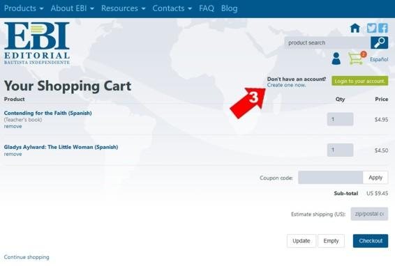 Shopping cart English 3