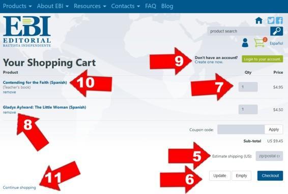 Shopping cart English 2