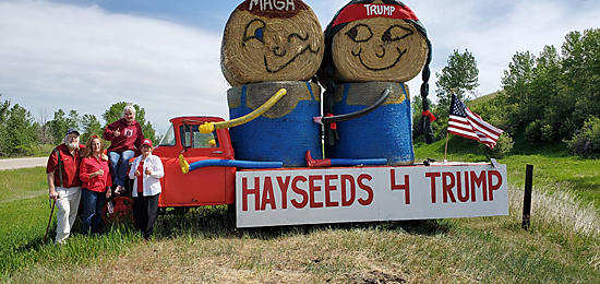 Hayseeds for Trump Hay bale Contest