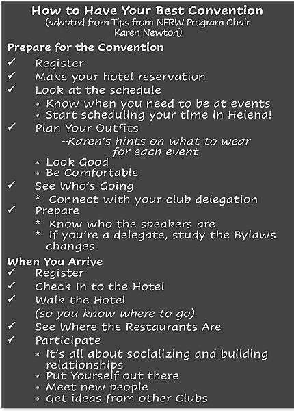 Prepare for Convention