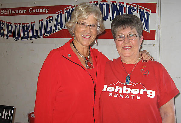 Governor Judy Martz and SRW VP Loretta Dell