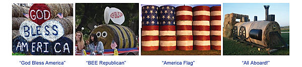 Examples of haybale art