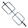 Heavy Duty Round Ratcheting Bar w/Welded Feet & Bolt-on Hoops