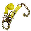 "4"" Ratchet Strap w/ Chain & Hook"