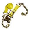 "4"" Custom Ratchet Strap with Chain & Hooks"