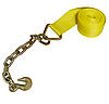 "4"" x 27' Winch Strap w/Chain Hook"