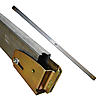 Decking E-Track Steel Beam w/Long Wood Beam Socket End