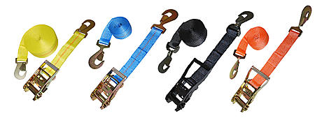 2 inch Ratchet Straps with Snap Hooks