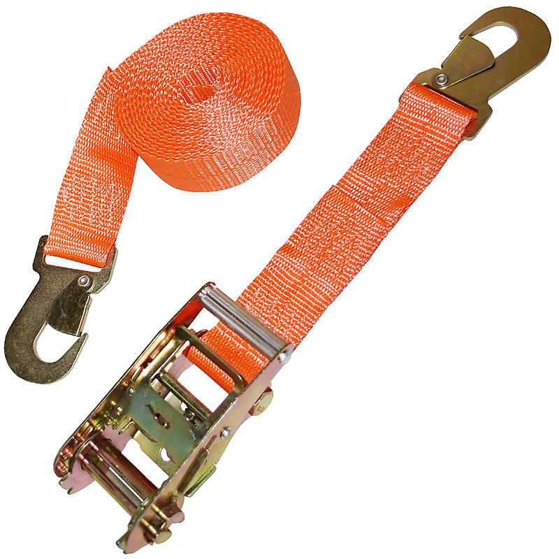 Ratchet Strap with Flat Snap Hooks