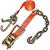 "2"" Auto Tie Down with Chain and Hook and RTJ Hooks"