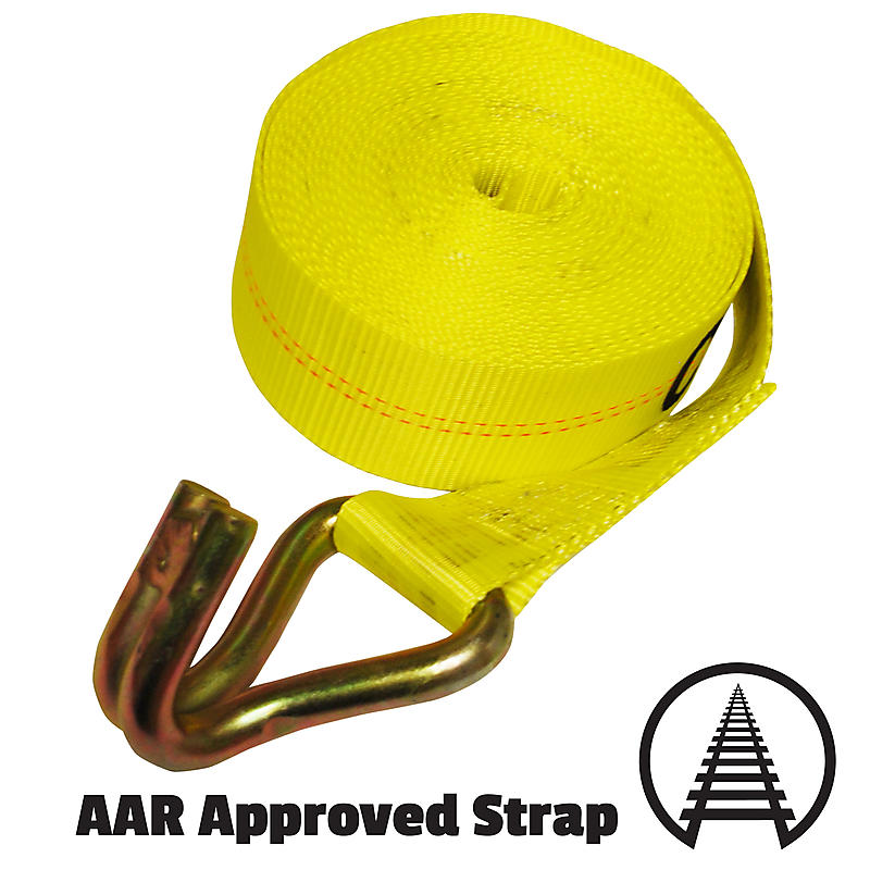 "3"" Winch Strap with Wire Hook"