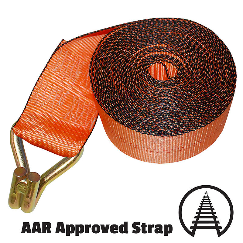 """4"""" Custom Winch Strap with Wire Hook"""