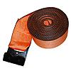 "4"" Orange Winch Strap w/ Flat Hook and Edge Protection"