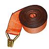 "4"" Orange Winch Strap w/ Wire Hook and Edge Protection"