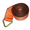 "4"" Orange Winch Strap w/ Delta Ring and Edge Protection"