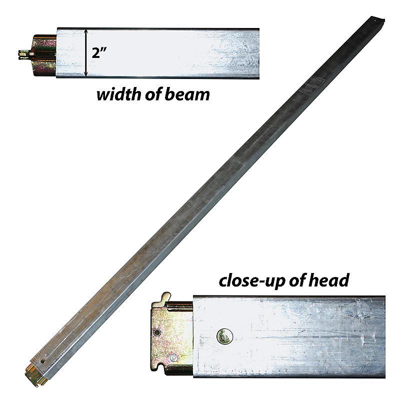 Steel E-track beam