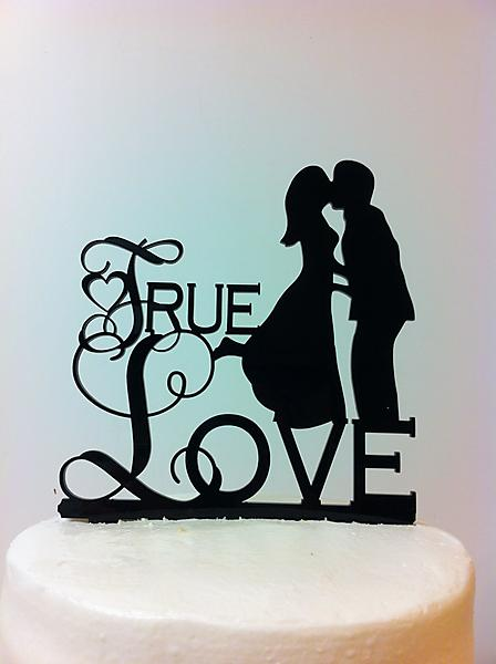 T1 - True Love Silhouette Wedding Cake Topper—Country Road ...