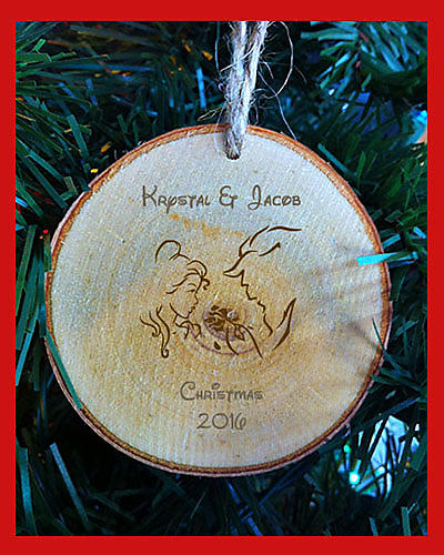 c1 personalized birch christmas ornament beauty and the beast first names christmas