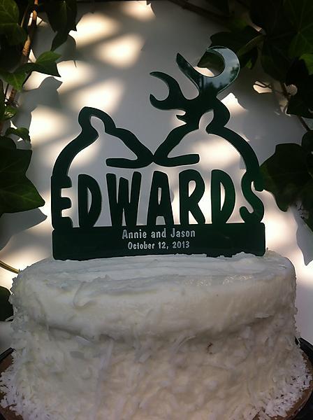Buck Doe Wedding Cake Toppers