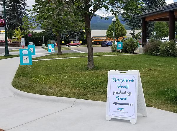 storytime stroll at Whitefish Library