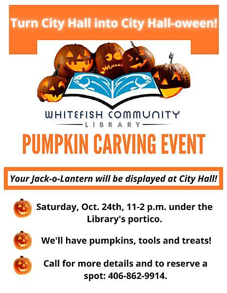 Pumpkin Carving Event flyer